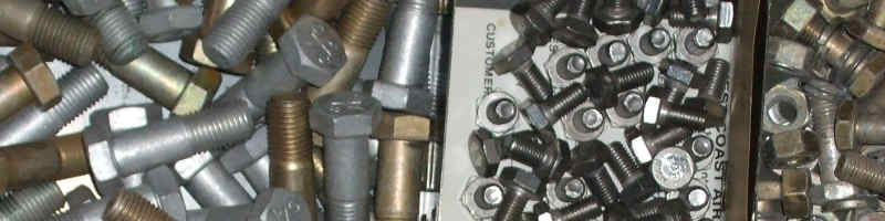Engineering Surplus Mechanical nuts and bolts and other large